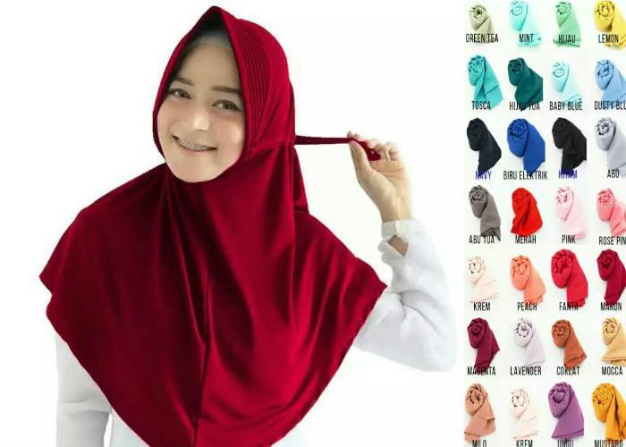 Hijab Instan jersey / Jilbab Instan jersey / Kerudung Instan jersey - IRD