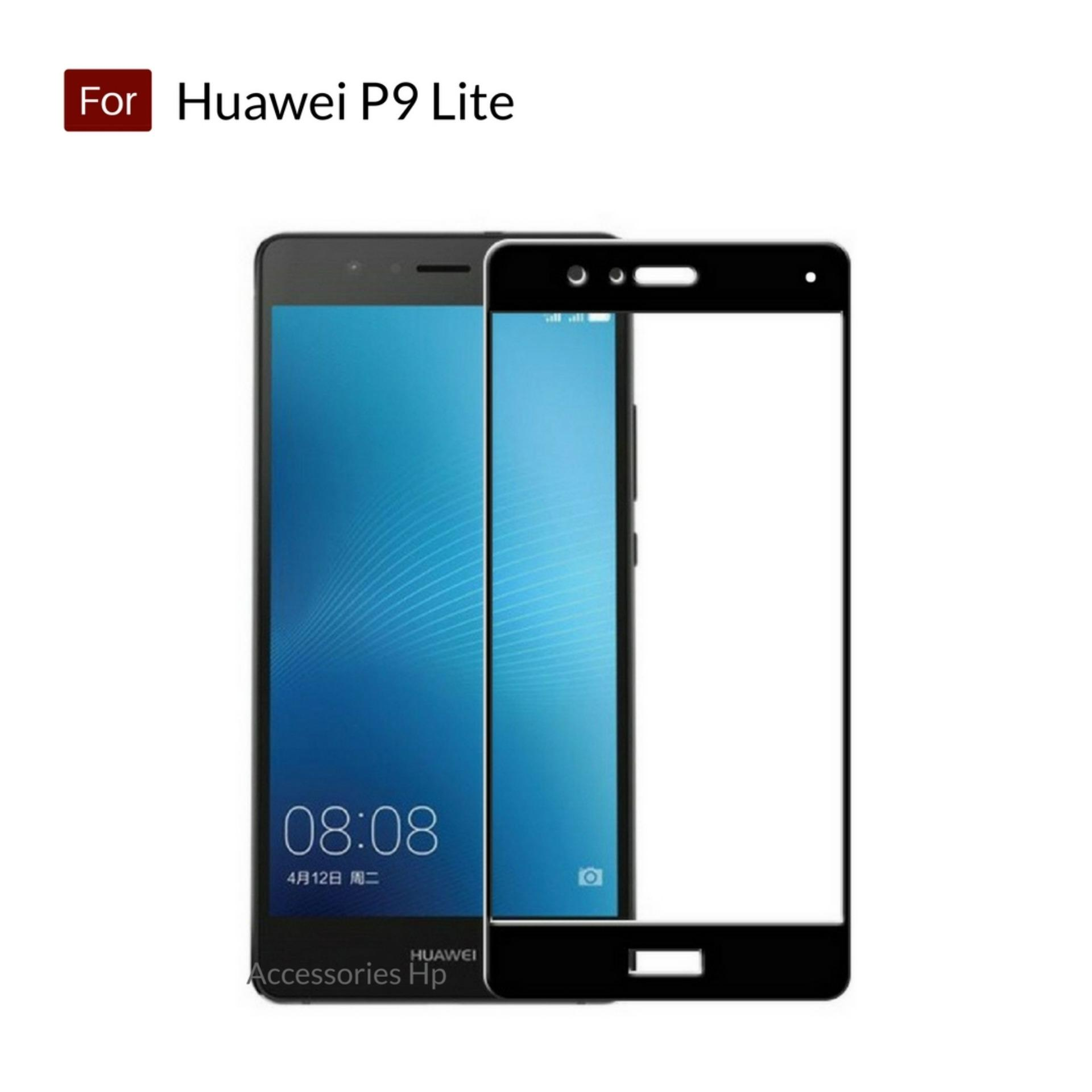 Accessories Hp Full Cover Tempered Glass Warna Screen Protector for Huawei P9 Lite - Black