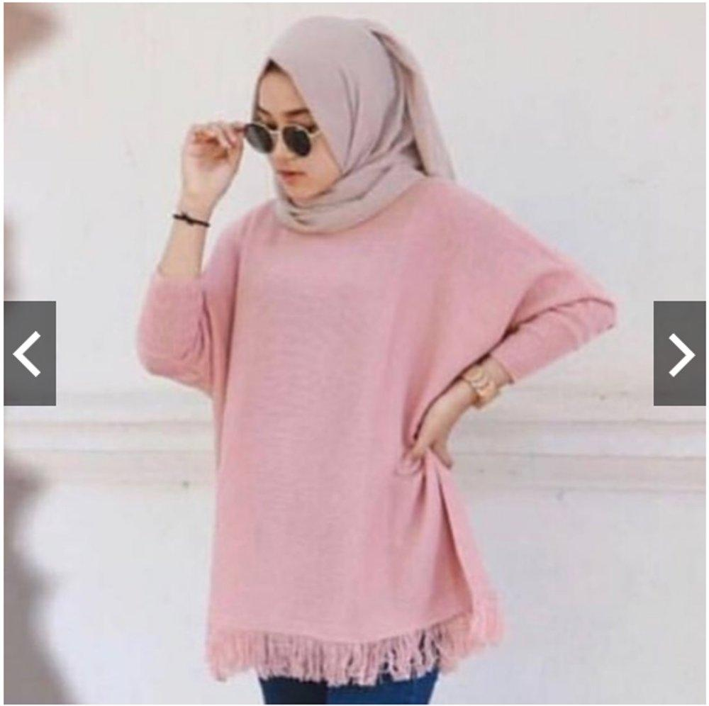 Raida   BAYAR DI TEMPAT  Sweater Rajut Wanita   Baju Rajut wanita   Baju  Rajut d46e33644a