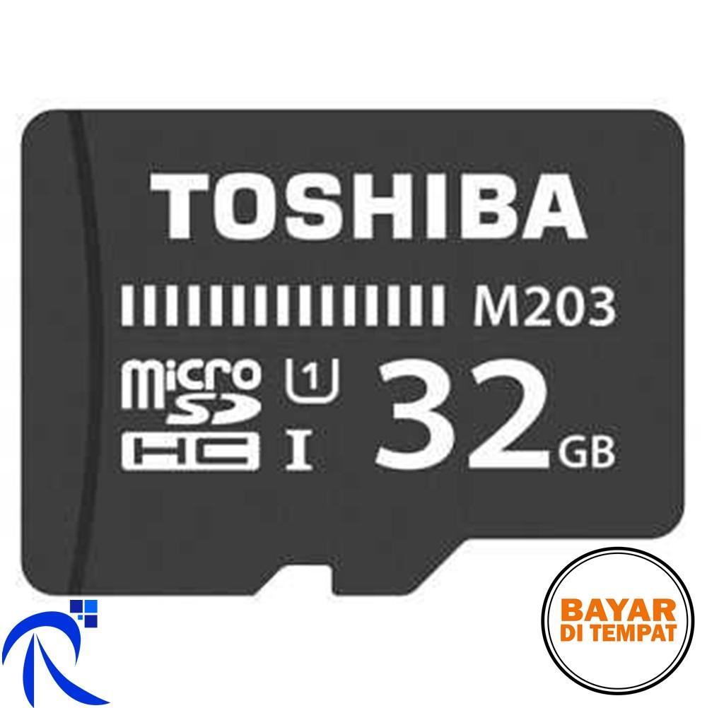 Toshiba M203 MicroSDHC UHS-I Class 10 (100MB/s) 32GB - THN-M203K0320C4 - Black / Hitam - Kartu Memo