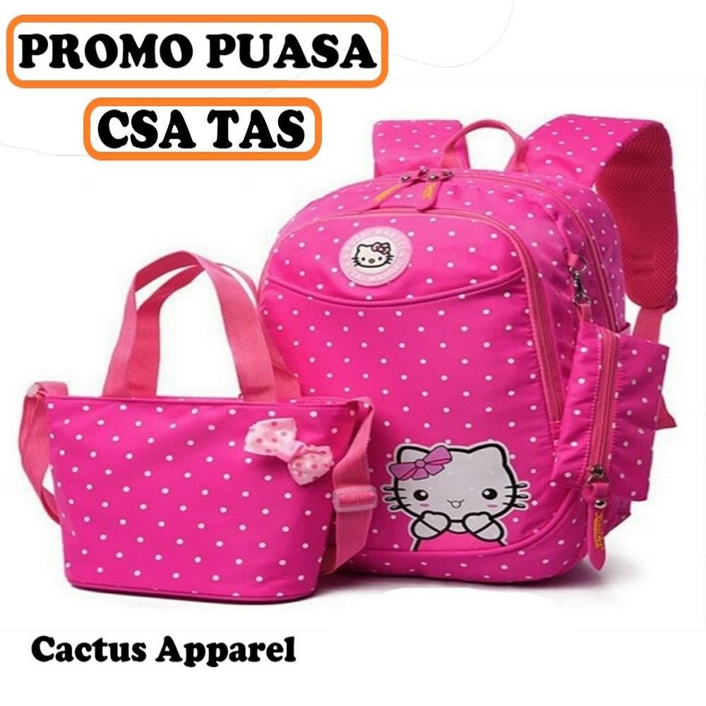 Buy Sell Cheapest Tas 3in1 Ransel Best Quality Product Deals Palazzo 34685 Csa Promo Anak Sekolah Motif Hello Kitty Mickey