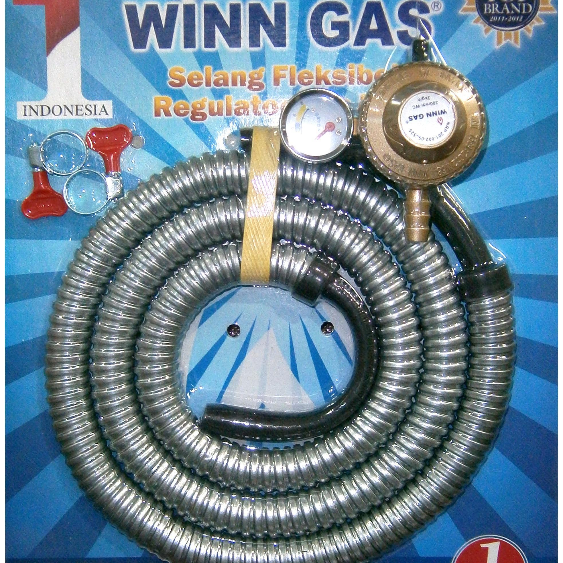 Jual Winn Gas Paket Murah Garansi Dan Berkualitas Id Store Premium Top Brand Selang Selongsong Besi Winngas Sni Resmi Regulator Fleksibel 18 Midr79000 Rp 79000