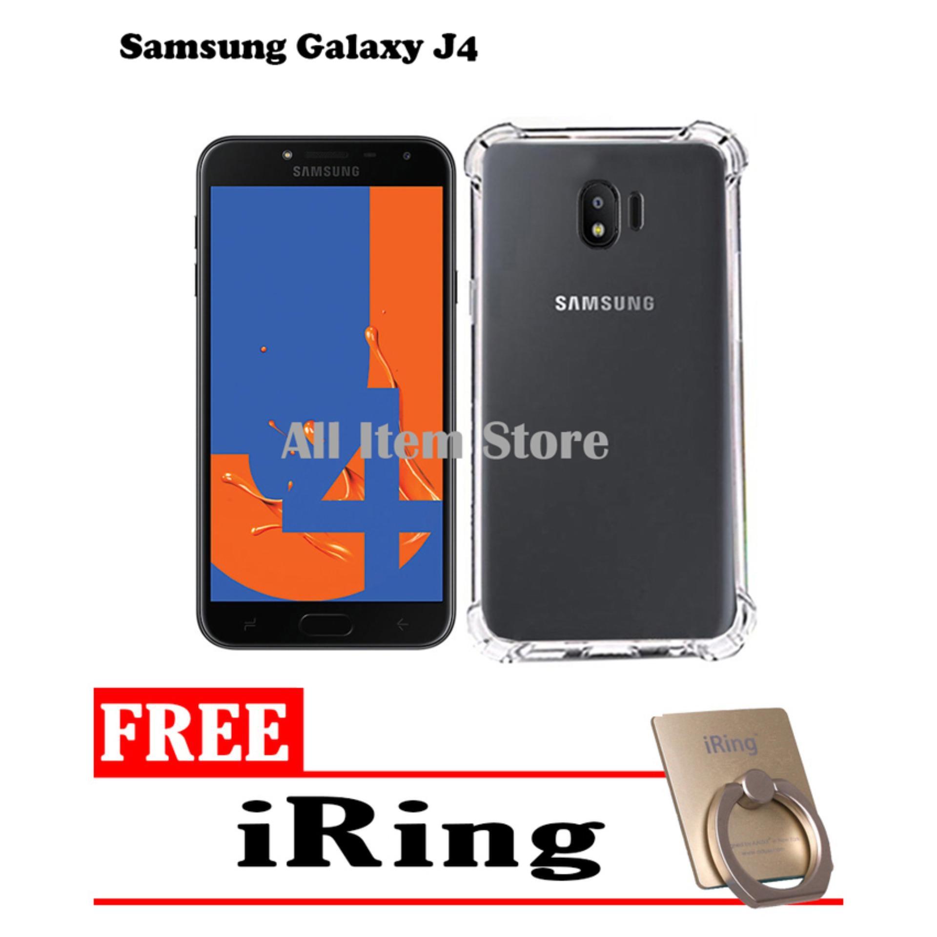 Case Anti Crack / Case Anti Shock Elegant Softcase For Samsung Galaxy J4 2018 - Bening + Free iRing