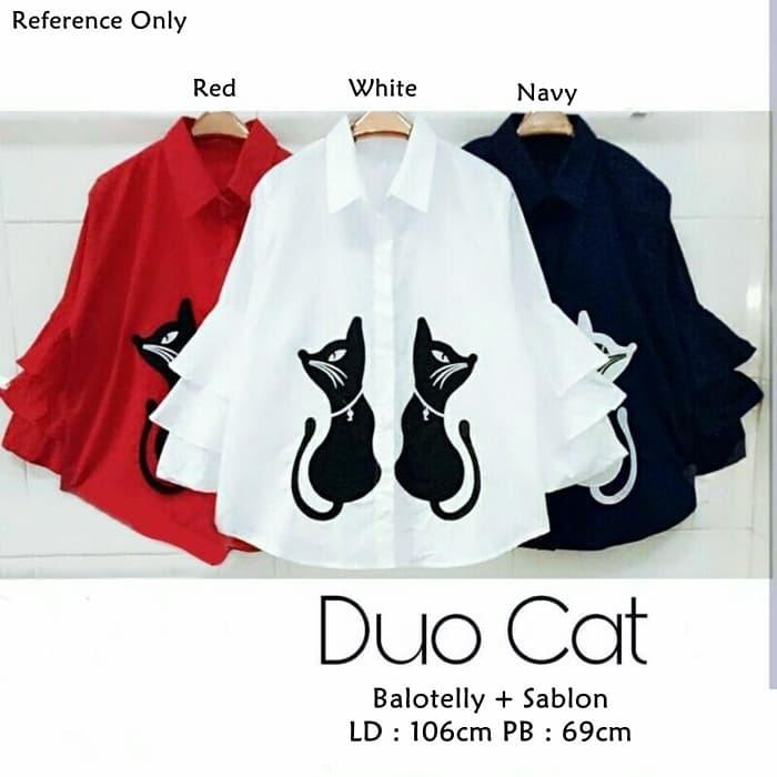 Super Sale! Duo Cat Blouse Low Price!