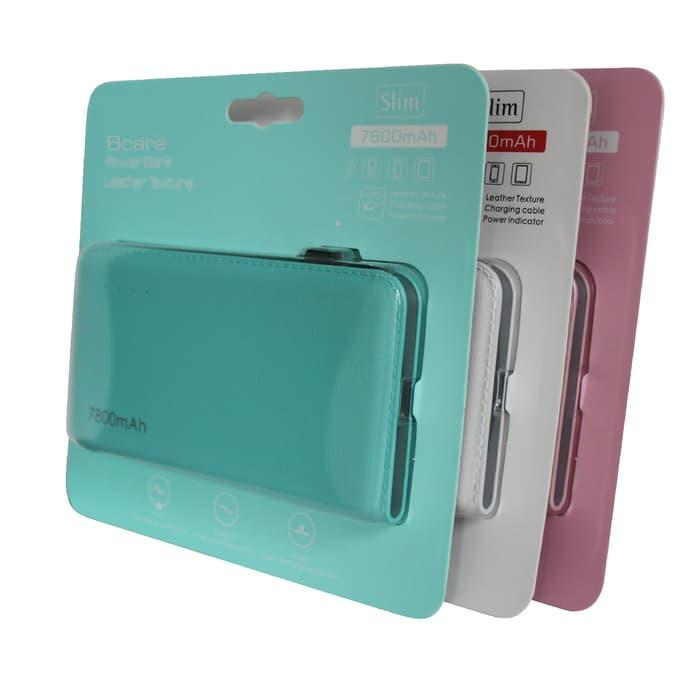 Powerbank Bcare 7800mAh Leather Texture Ready 3 Warna