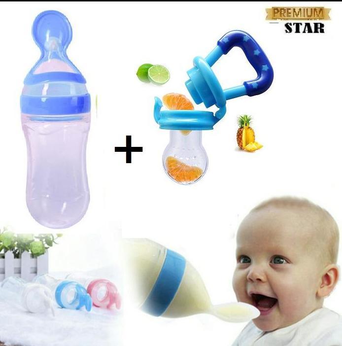 Promo Akhir 2018 Dot Dan Botol Susu Bayi Original 7star - Botol Makan Sendok + Free Dot Bayi/empeng Bayi Untuk Penenang 1pcs By 7star Id.