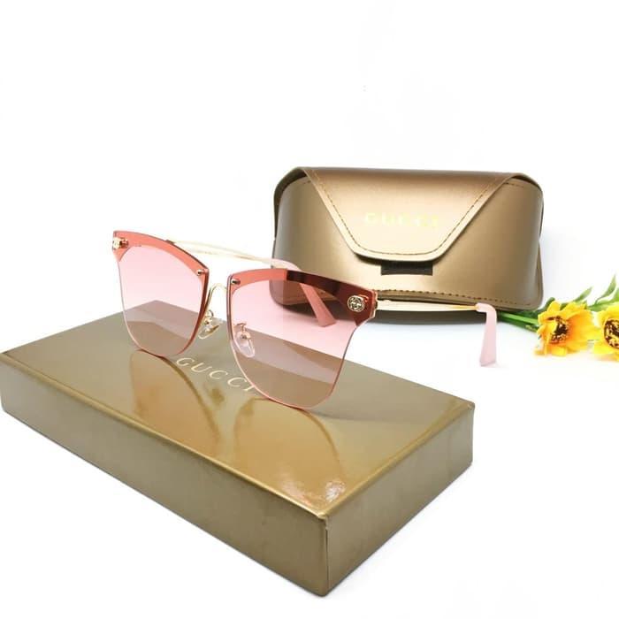 Kacamata / Sunglass Wanita Gucci M60819 Fullset + Cairan Pembersih