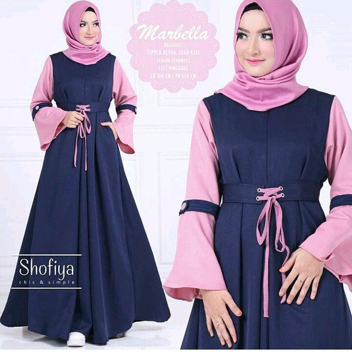 Baju Original Marbela Maxi Dress Muslim Modern Panjang Hijab Fashion Perempuan Casual Gamis Pakaian Wanita Terbaru Tahun 2018
