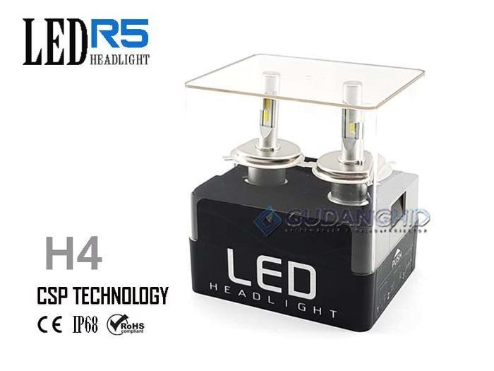 Best Quality Lampu LED Mobil Lumileds CSP R5 H4 Hi-Lo 8V-32V 30W 4800