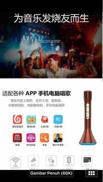 DISKON TERLARIS Portable Microphone Wireless Karaoke Speaker TERMURAH
