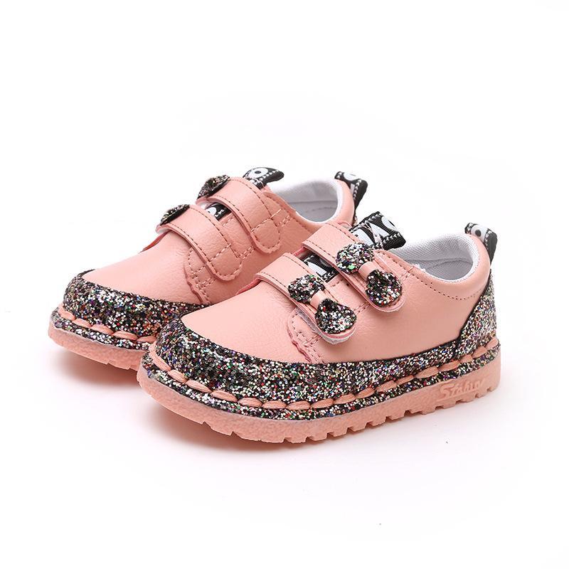 2018 Musim Semi dan Musim Gugur model baru sepatu kasual anak prempuan  jahit paillette sepatu lapisan 5d6bacb934