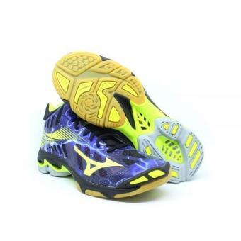 Pencarian Termurah Sepatu voli Mizuno V1GA180500 WAVE LIGHTNING Z4 MID -  BLACK SAFETY YELLOW PANSY harga 8fd17923a7