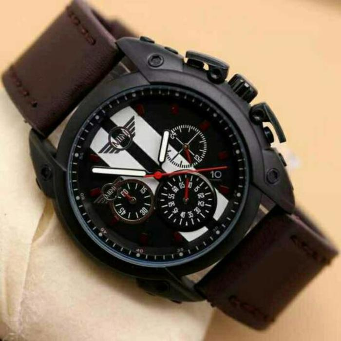 Jam Tangan Pria Mini Cooper Chrono Aktif Brown/ Jam Tangan Hight Quality / Jam Tangan