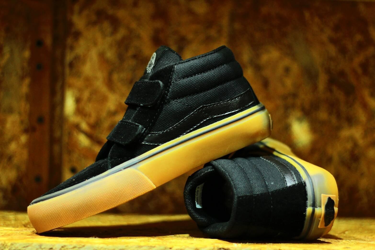 Daftar Harga Vans Golf Wang Black Gum Original Sepatu Casual Oldskool High Sol Kids Anak Termurah