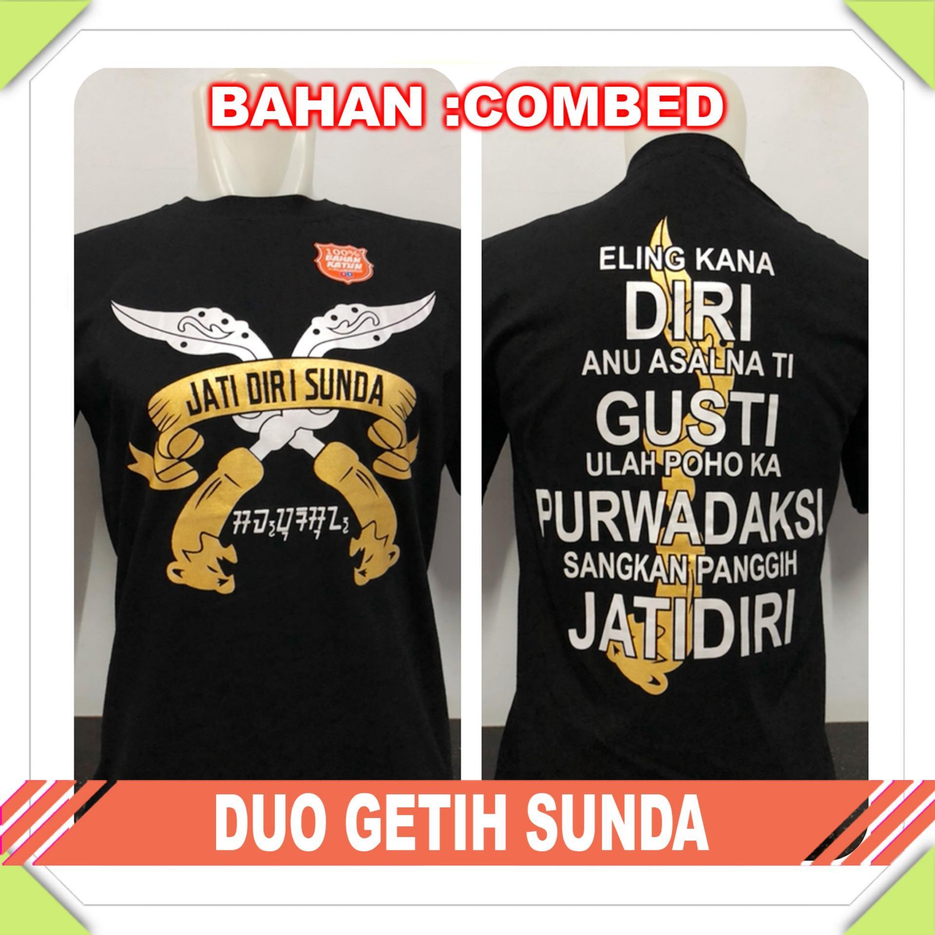 Anime ID - Kaos T-Shirt Distro / kaos Pria / Tshirt Pria / Distro Pria / Baju Pria Sunda Duo Getih Sunda - Hitam