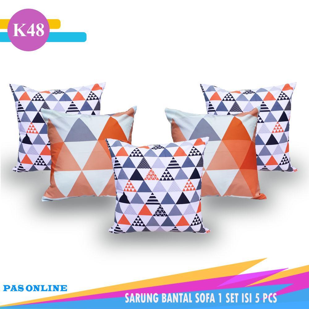 Pas Online - Sarung Bantal Sofa Kombinasi 1 Set = 5 Pcs ( Size 40 x