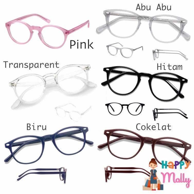 Kacamata Fasion Pria dan Wanita Korea - Oval Tersedia varian Warna 1pcs 0ba2bb94ca