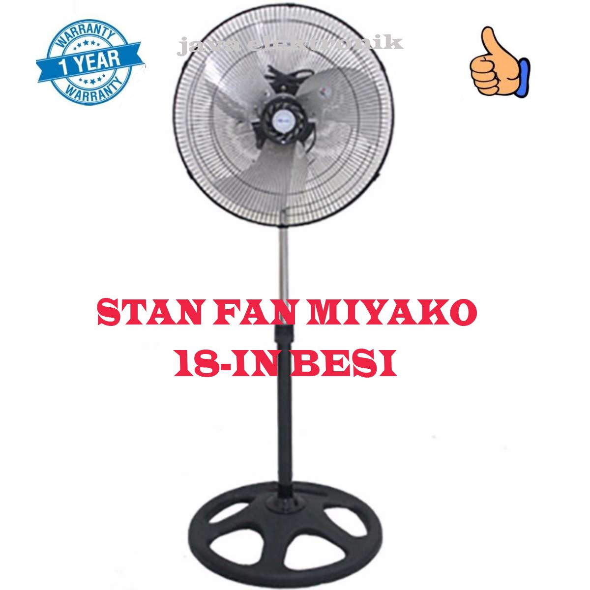 Jual Kipas Angin Miyako Terbaru Desk Fan Ampamp Wall Kad 927 B Stand 18in Ksb18 Garansi Resmi