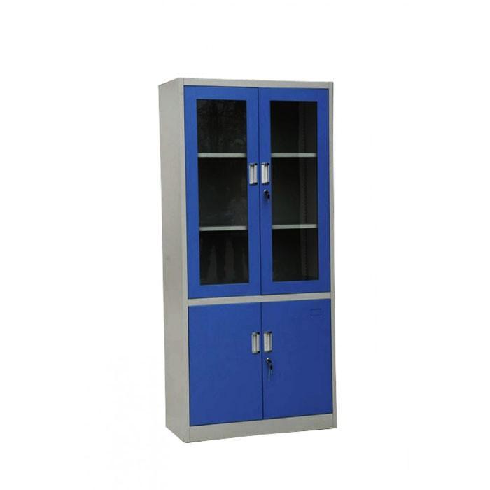 Lemari Besi Dengan Pintu Kaca & Laci - Filling Glass Door With Drawer