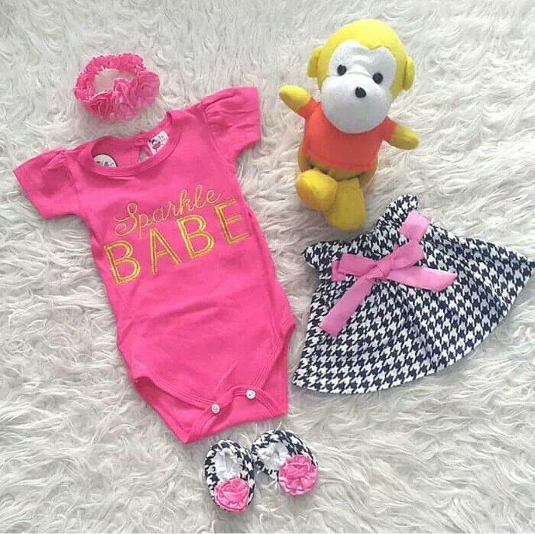 Pakaian Bayi Perempuan Terbaru Kazel Singlet Jumper 6pcs New 9 12 Bulan Set Rok Babe Free Sepatu Dan Bandana Setelan Lucu Baju Cewek