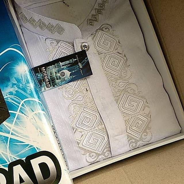 Baju Kokoh Pria Putih Termurah Di Lazada - Kemeja Muslim Lengan Panjang Termurah - BONUS DUS EXCLUS