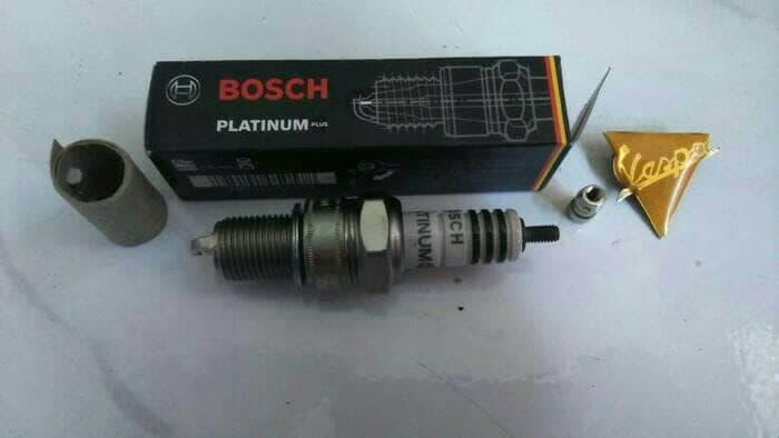 Busi Vespa PX Excel Exclusive Drat Panjang ORI Merk Bosch Germany