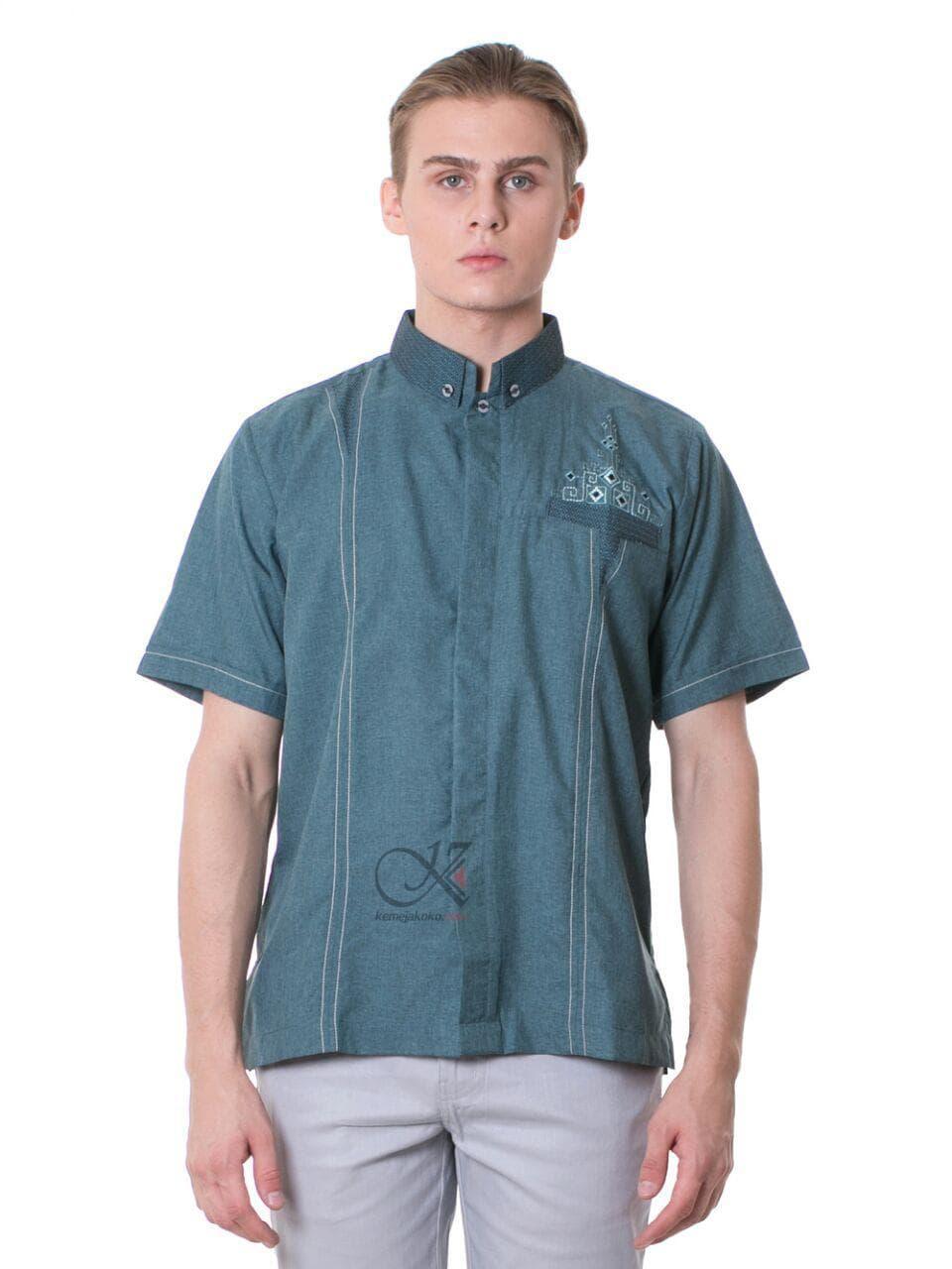 Daftar Harga Baju Koko Pria Modis Termurah Fashion Keren Katun Coklat Kok 1735 Kemeja Trendi Terkini Modern Elegan Twl 18 Hijau