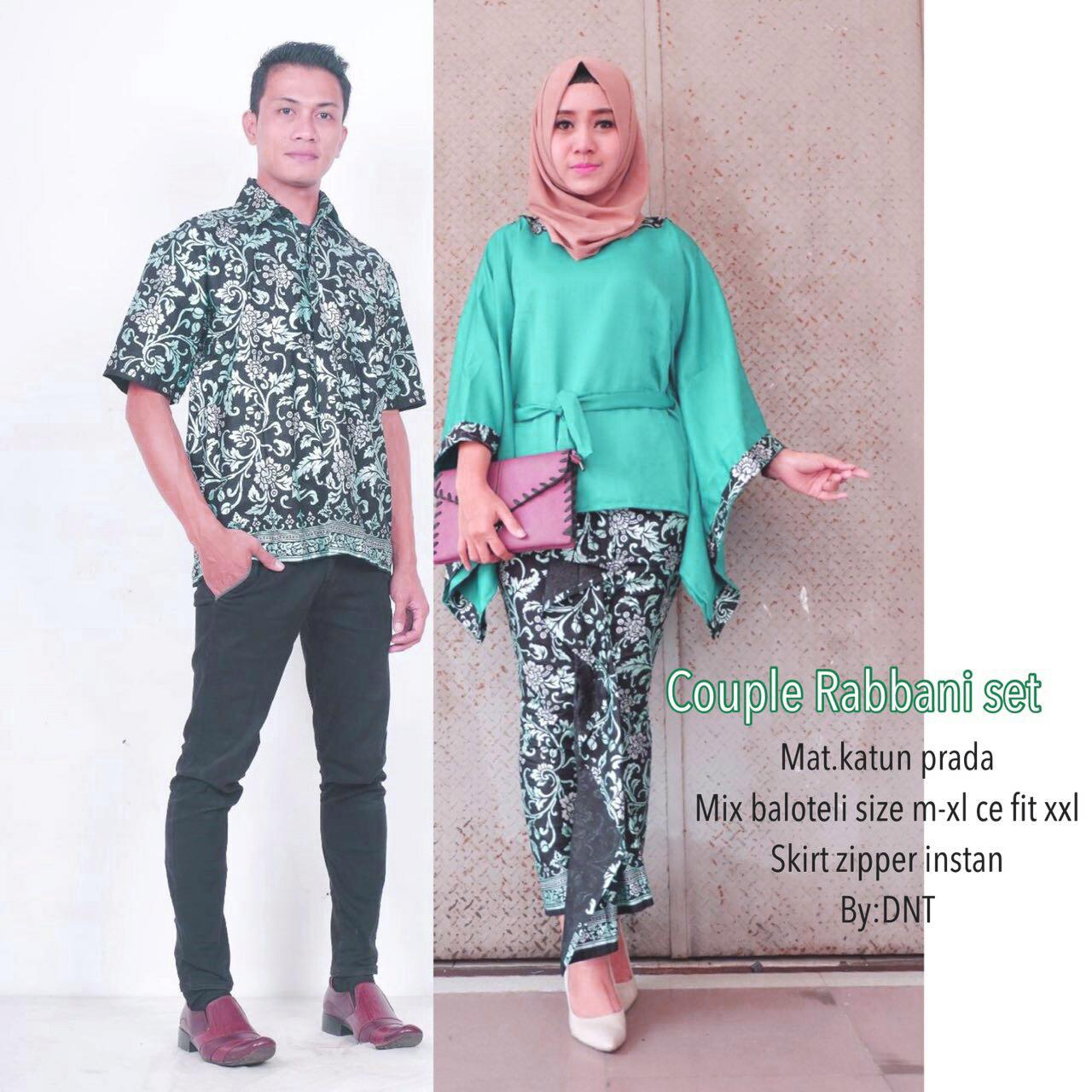 Saudah Baju batik_Baju Batik Couple_Baju Batik Sarimbit_Baju Batik Pasangan_Baju Batik Pesta_Baju Batik Keluarga Rabbani Couple