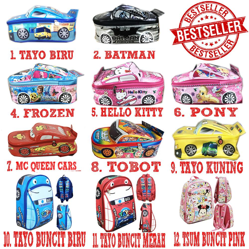 Bgc Tas Ransel Sekolah Anak Tk Tas Mobil Anti Air Bahan Spon Cars Bus Sekolah Lol Batman Frozen Pony Hello Kitty Tobot Uk 29x24x12 By Bgc Shop.