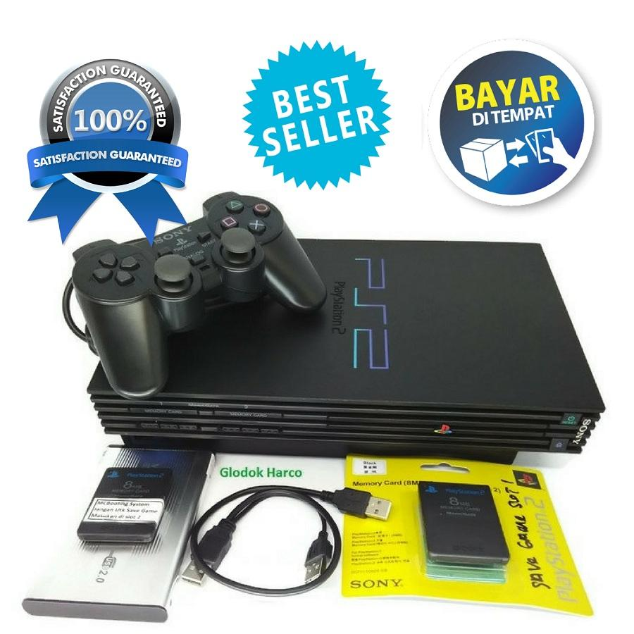 Paling Murah PS2 - Sony PlayStation 2 USB Harddisk 40 Gb Console Black Fee Games & MMC