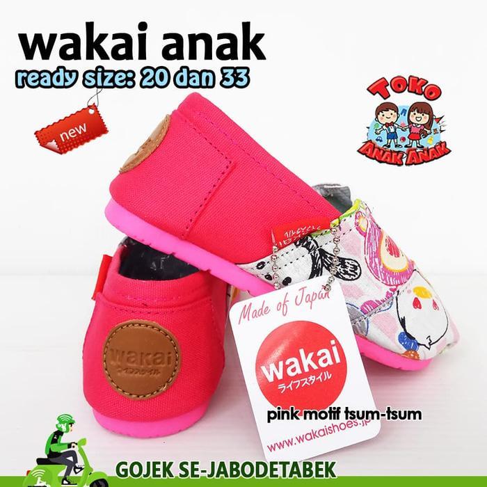 Sepatu Wakai Anak - Motif Pink Tsum Tsum. Wakai Anak Murah.Wakai Anak