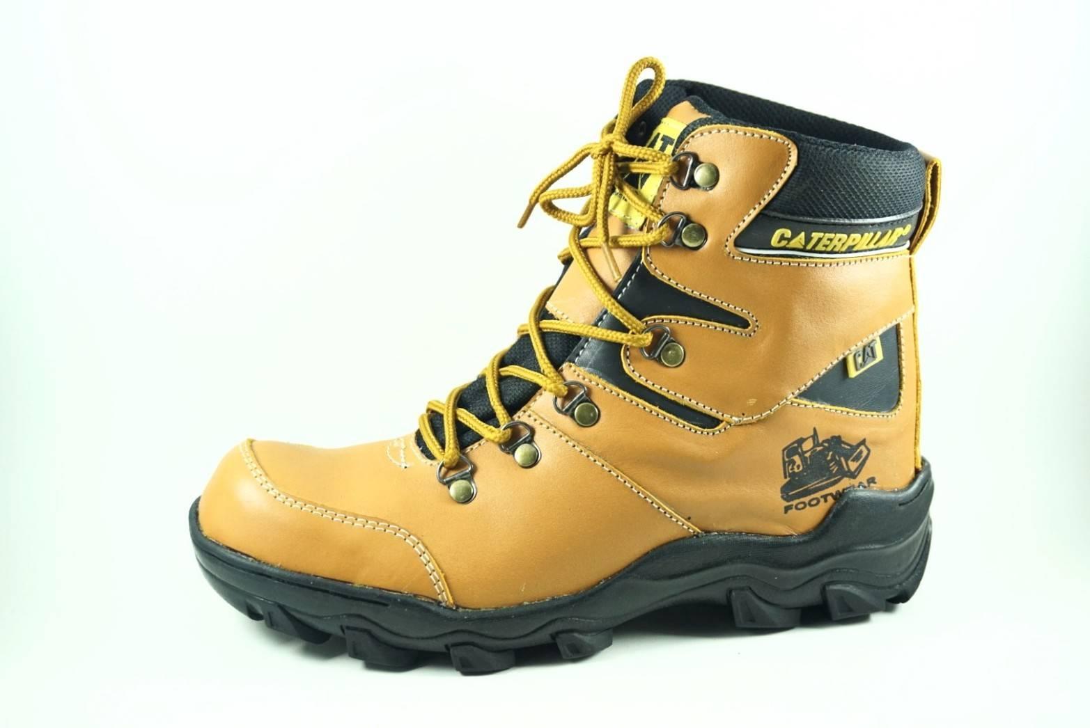 Pajero CATERPILLAR kulit safety Sepatu Olahraga Kerja Jalan-jalan Santai  Sekolah Joging Lapangan Kulit Sneaker fccc6fcff5