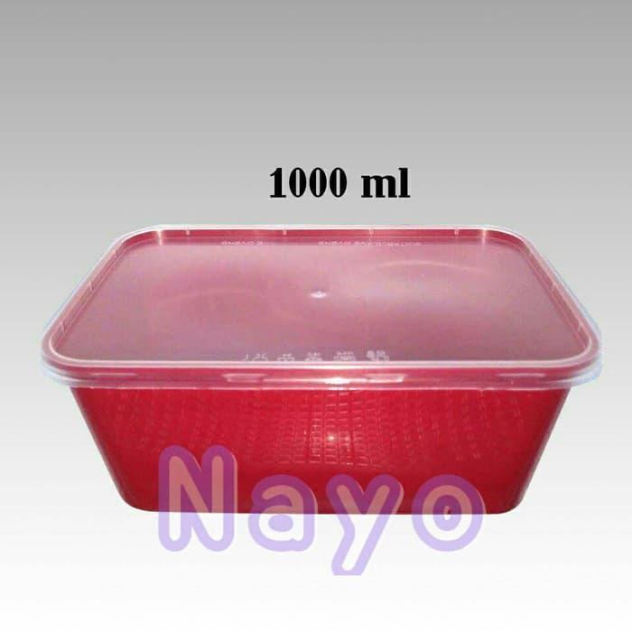 HOT SPESIAL!!! Kotak plastik Pizza Hut 1000ml/Tempat makanan/Kotak makan/Thinwall - aWMhTT