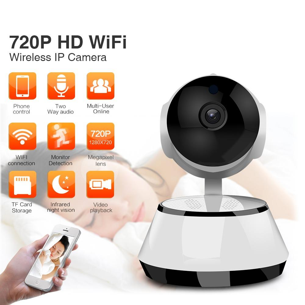 Kamera CCTV Q6 Wifi HD720 P2P CCTV Camera Baby Monitor with 2 Way Audio, Motion Sensor Alarm and Micro SD Slot