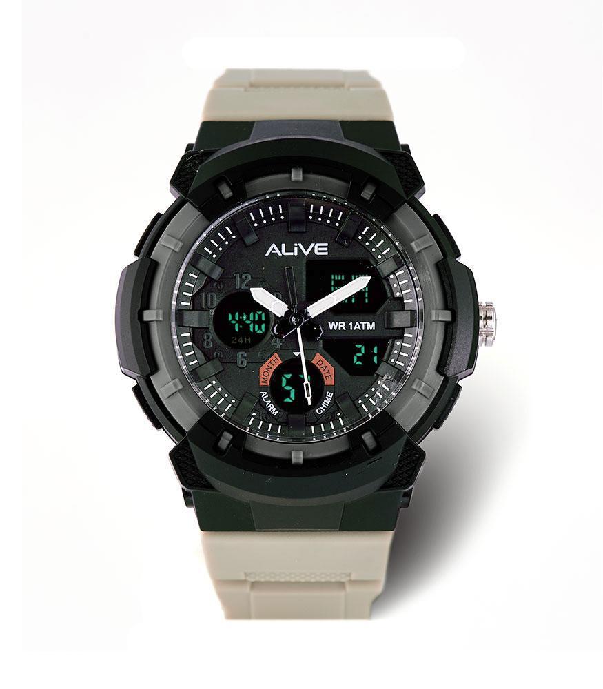 Alive Jam Tangan Pria Quinton Grey-GPU1103G3