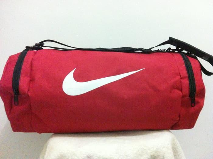 BEST SELLER!!! Tas futsal / Fitness model Guling Besar Merah NKE - ok68SL