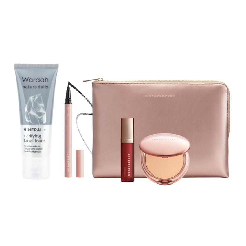 WARDAH Instaperfect Unstoppable Package + Free Pouch 947740e171