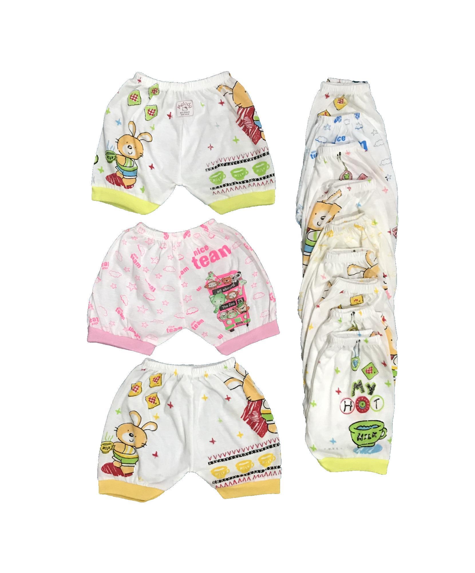 Bawahan Bayi Terbaik Celana Pendek Motif Size Newborn 3 Pcs Bayie Isi 12 Melody Umur 0 Bulan