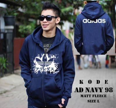 Jaket Adidas JPN Navy Sweater Hoodie Pria Wanita Grosir Murah Bandung