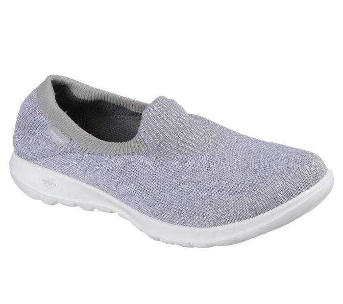 Skechers - GOwalk Lite - Euphoria Sepatu Kasual Wanita - Abu-abu e9c3c215a3
