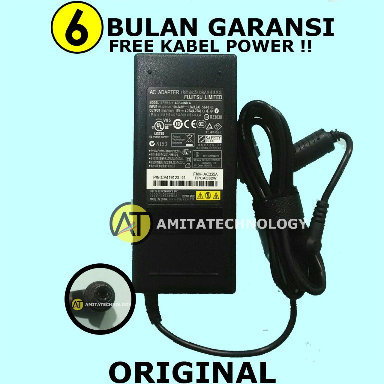 Amita - Adaptor Charger Laptop ORIGINAL Fujitsu 19V 4.22A 80W LH530 LH531 LH532