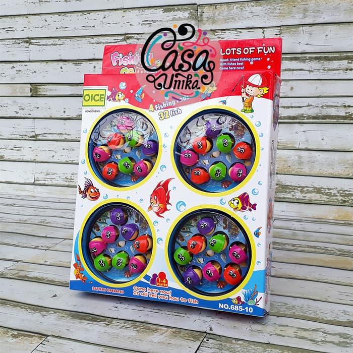TERBARU!!!! Mainan Pancing Pancingan Ikan Magnet 4 Kolam - Fishing Games 685-10