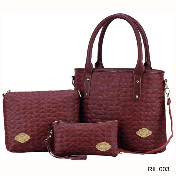 Raindoz Tas Hand Bag Wanita Marun - RIL 003