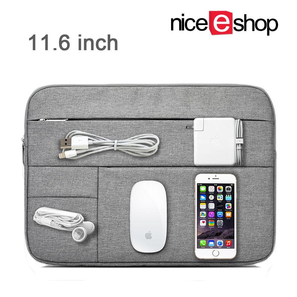 NiceEshop 11.6 ''Multifunctional Sarung Pelindung Laptop Tas Kapasitas Besar Tempat Pelindung Laptop Kantong untuk Macbook
