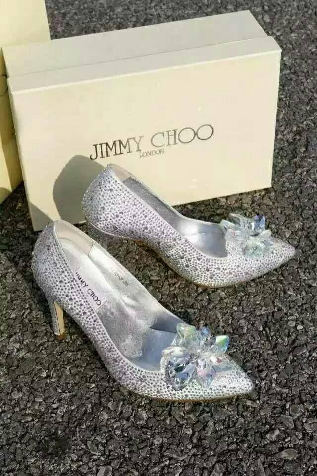 jimmy choo glass shoes cinderella swarovski high heels premium