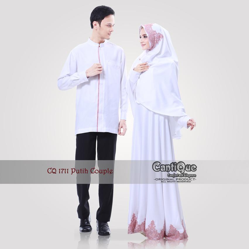 Baju Couple Keluarga Muslim Lebaran - CQ 1711 - Putih