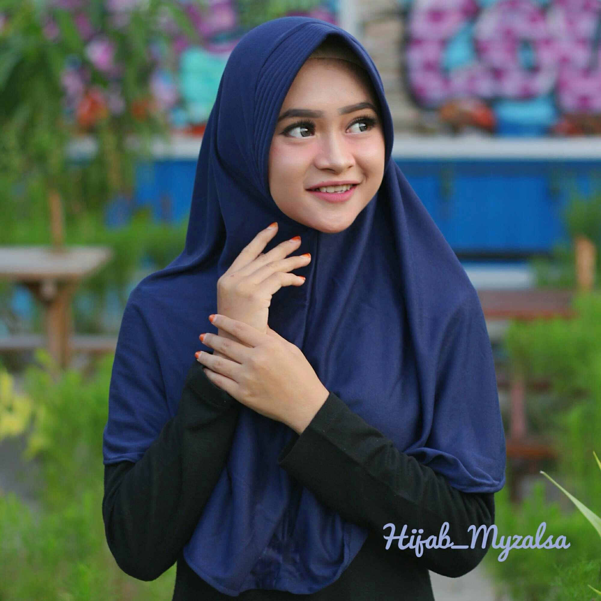 Hijab instan jilbab instan kerudung bergo kaos pet antem ukuran M