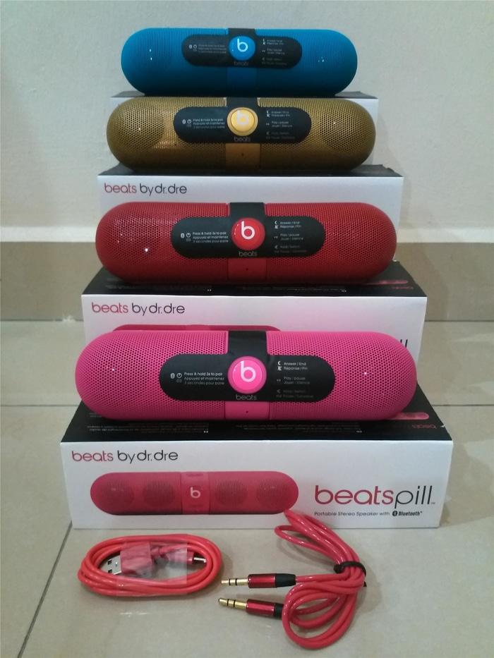 Referensi Speaker Aktif Speaker Stereo Bluetooth BEAT PILL Capsule by Dr.Dre Super Bass Sound