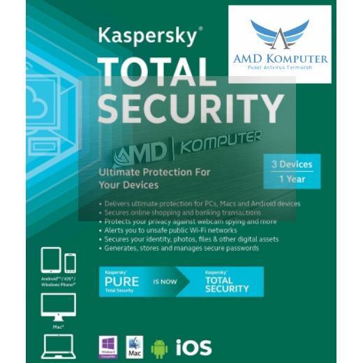 Kaspersky Total Security 1 Pc 1 Tahun . By Amdkomputer.