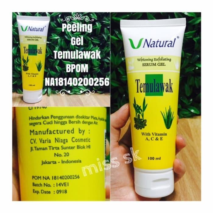 PEELING GEL TEMULAWAK V Naturally / whitening exfoliating serum gel